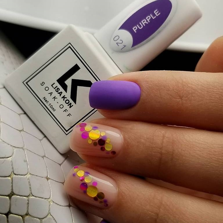 Purple-gel-polish