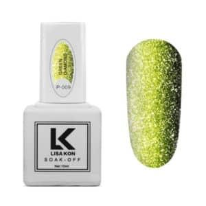 Gel-Polish-Platinum-P-009-Green-Diamond-Lisa-Kon