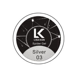 Silver-Spider-Gel-Nail-Art