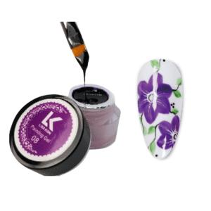 Purple-painting-gel